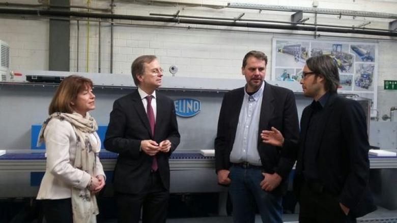 Thomas Rachel MdB besucht Dürener Traditionsunternehmen Elino