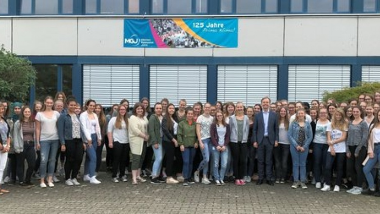 Besuch am Mädchengymnasium Jülich