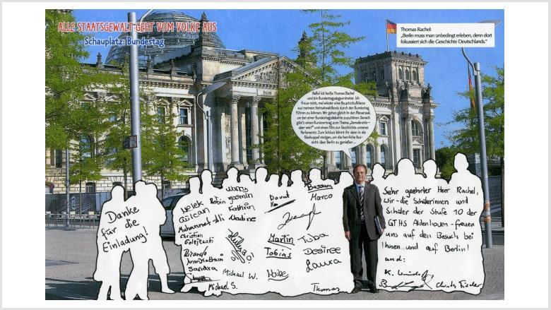 Jahrgangsstufe 10 der Ganztagshauptschule Aldenhoven zu Gast in Berlin