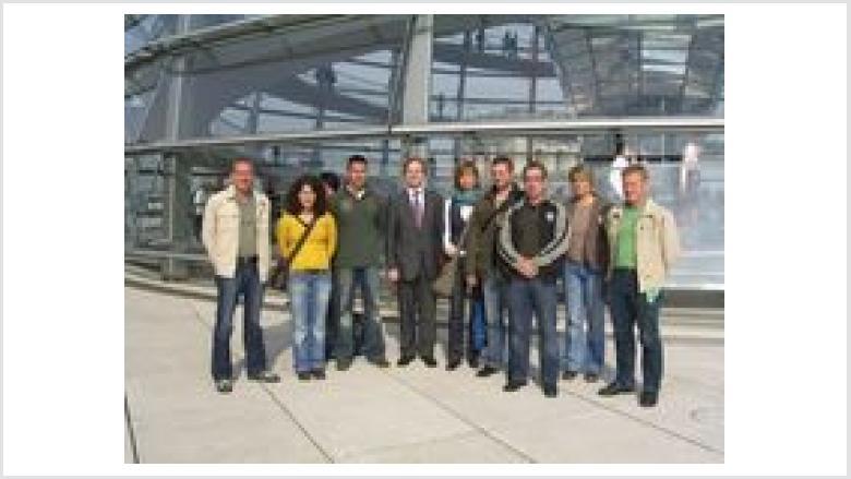 Besuchergruppe der Polizei Düren zu Gast in Berlin