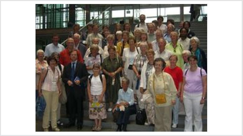 Besuchergruppe Evangelische Kantorei in Berlin