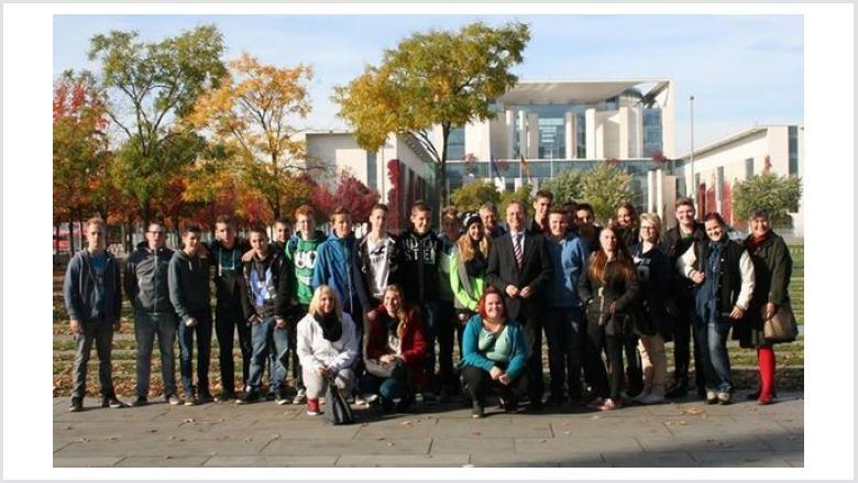 Schüler der Realschule Jülich zu Gast bei Thomas Rachel MdB in Berlin