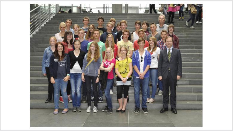 Schüler aus Jülich besuchten Thomas Rachel MdB in Berlin