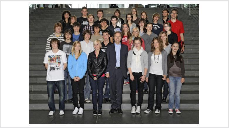 Stift-Schüler besuchen Thomas Rachel