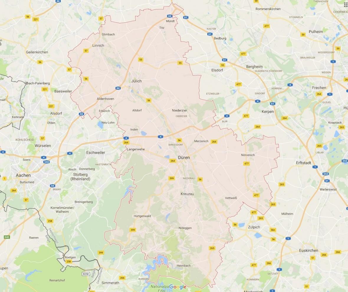 Städte und Gemeinden aus dem Wahlkreis Düren