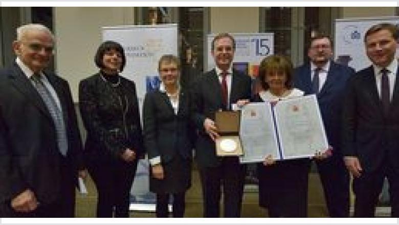 """Verleihung der """"Abraham Geiger Plakette"""" an den EAK-Bundesvorsitzenden Thomas Rachel MdB"""