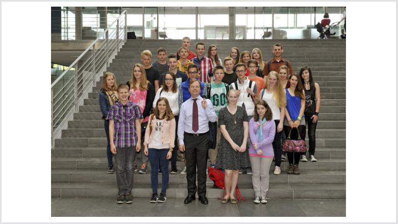 Gymnasium Haus Overbach bei Thomas Rachel MdB in Berlin