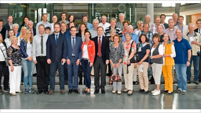 Thomas Rachel MdB empfängt 50 Ehrenamtler aus dem Kreis Düren im Bundestag
