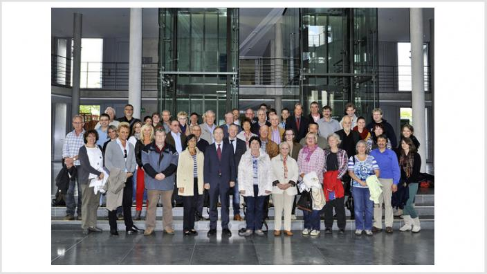 Thomas Rachel MdB begrüßt 50 Ehrenamtler aus dem Kreis Düren in Berlin