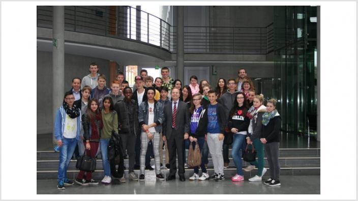 Heinrich-Böll Gesamtschule bei Thomas Rachel MdB in Berlin
