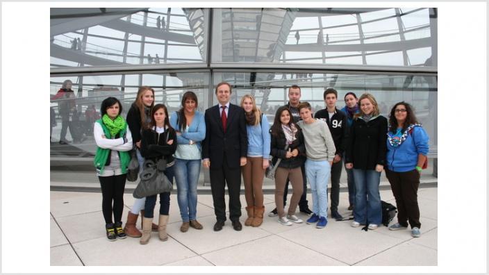 Thomas Rachel MdB empfängt Dürener Kinderheim St. Josef in Berlin